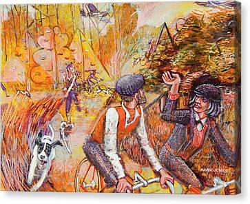 Walking The Dog 7 Canvas Print by Mark Jones