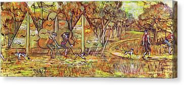 Walking The Dog 4 Canvas Print by Mark Jones