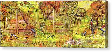 Walking The Dog 5 Canvas Print by Mark Jones