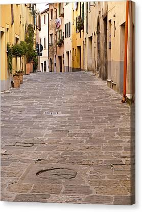 Walking Through Montepulciano Canvas Print by Rae Tucker