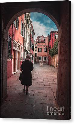 Walking Through Time - Venice, Italy Canvas Print