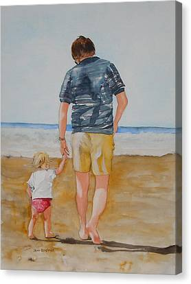 Walking With Pops Canvas Print by Jean Blackmer