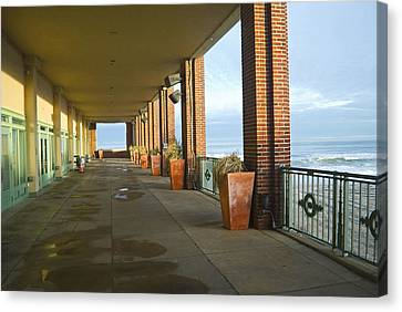 Walkway Convention Hall Canvas Print by Andrew Kazmierski
