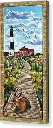 Walkway To Fire Island Lighthouse Canvas Print by Bonnie Siracusa
