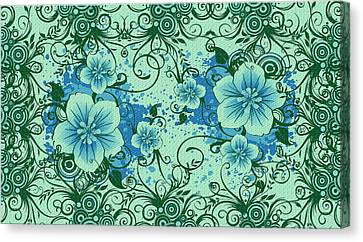 Wall Flower 8 Canvas Print by Evelyn Patrick