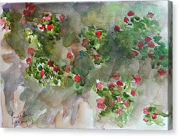 Wall Flowers Canvas Print by Janet Butler