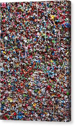Wall Of Chewing Gum Seattle Canvas Print by Garry Gay