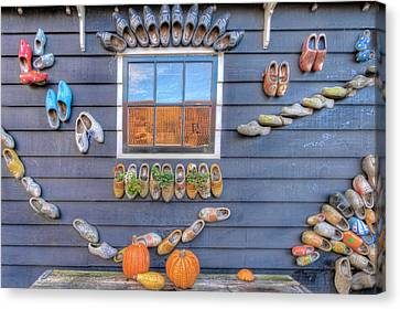 Zaandijk Canvas Print - Wall Of Clogs by Nadia Sanowar