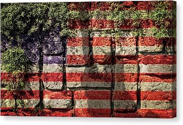 Wall Of Liberty Canvas Print by Wim Lanclus