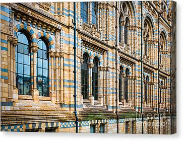 Wall Of Natural History Museum In London Canvas Print by Inge Johnsson