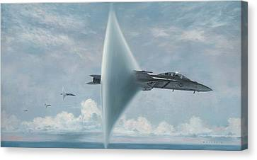 Navy Canvas Print - Wall Of Sound Redcocks Style by Wade Meyers