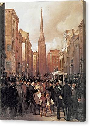 Wall Street 1857 Canvas Print by James H Cafferty