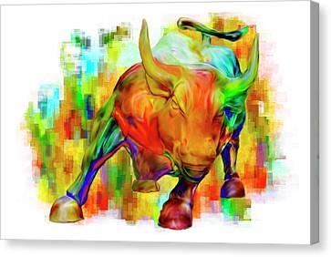 Wall Street Bull Canvas Print by Jack Zulli