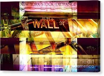 Wall Street Gold Canvas Print by John Rizzuto