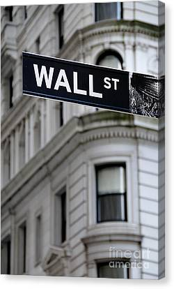 Wall Street New York City Financial District Canvas Print by Amy Cicconi