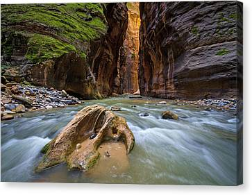 Wall Street Of The Narrows Canvas Print