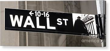 Wall Street Sign Close Up 2 Canvas Print by Nishanth Gopinathan