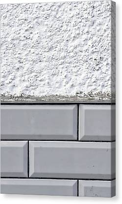 Ceramic Canvas Print - Wall Tiles Background by Tom Gowanlock