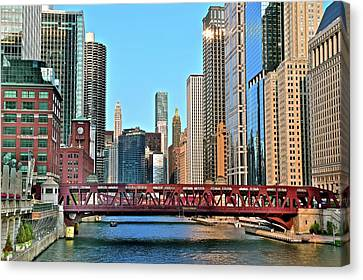 Wall To Wall Buildings Canvas Print
