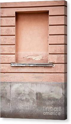 wall up blank false window in Old Town Warsaw Canvas Print by Arletta Cwalina