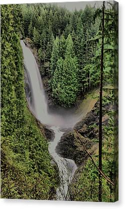 Canvas Print featuring the photograph Wallace Falls by Jeff Swan