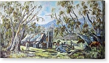 Wallace Hut, Australia's Alpine National Park. Canvas Print