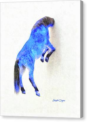 Walled Blue Horse Canvas Print