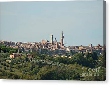Walled City Of Siena In Italy Canvas Print