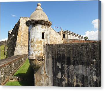 Walls Of San Cristobal Fort San Juan Puerto Rico  Canvas Print by George Oze