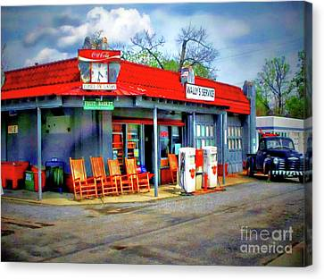 The Andy Griffith Show Canvas Print - Wallys Service Station Goober Says Hey Mayberry Nc No 1 by Ed Sanseverino Photography