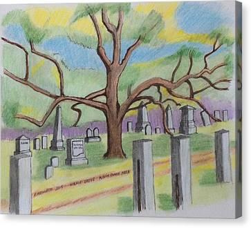 Walnut Grove Cemetary Canvas Print