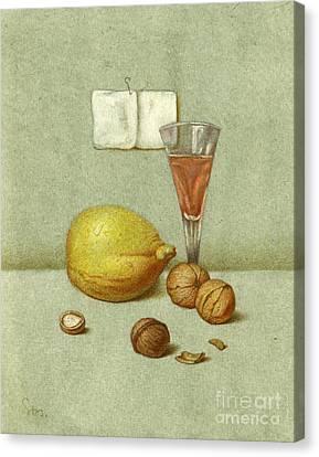 Walnuts And Lemon Canvas Print