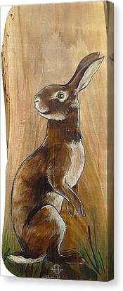 Walnutty Bunny Canvas Print by Jacque Hudson