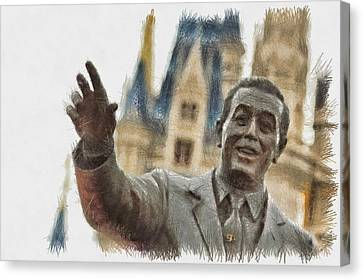 Walt - Sketch Canvas Print