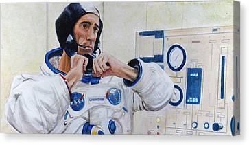 Walt Cunningham Canvas Print by Simon Kregar