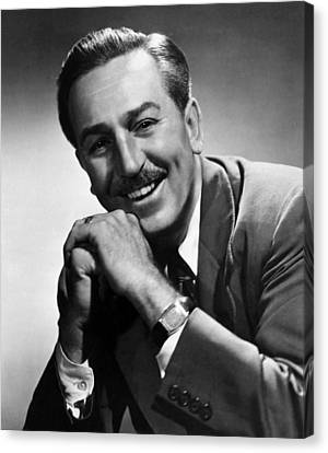 1950s Portraits Canvas Print - Walt Disney, 1955 by Everett
