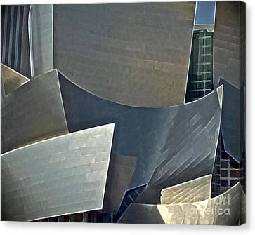 La Philharmonic Canvas Print - Walt Disney Concert Center by Gwyn Newcombe