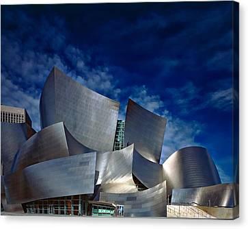 Walt Disney Concert Hall Canvas Print by Anthony Dezenzio
