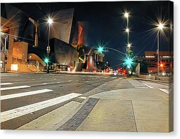 La Philharmonic Canvas Print - Walt Disney Concert Hall - Los Angeles Art by Lourry Legarde