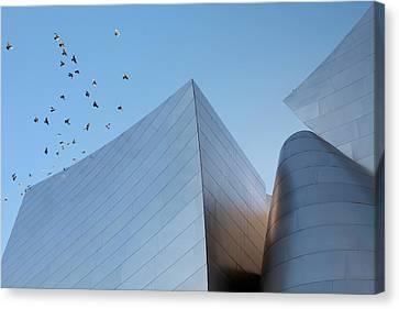 La Philharmonic Canvas Print - Walt Disney Concert Hall Los Angeles California Architecture Abstract by Ram Vasudev