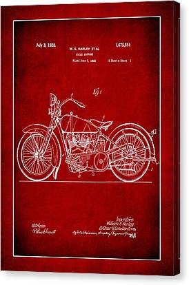 Harley Motorcycle Support Patent 2b Canvas Print
