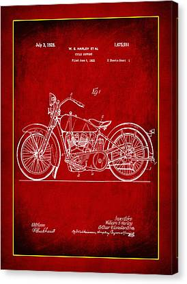 Harley Motorcycle Support Patent 2a Canvas Print