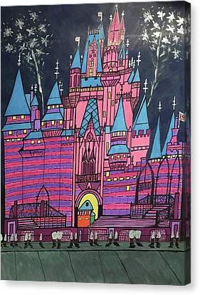 Canvas Print featuring the painting Walt Disney World Cinderrela Castle by Jonathon Hansen