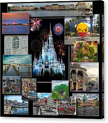Coller Canvas Print - Walt Disney World Collage by Thomas Woolworth