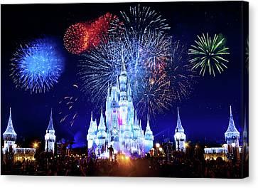 Walt Disney World Fireworks  Canvas Print