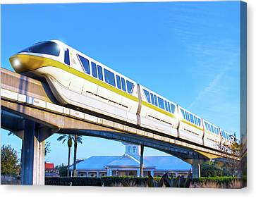 Canvas Print featuring the photograph Walt Disney World Monorail by Mark Andrew Thomas