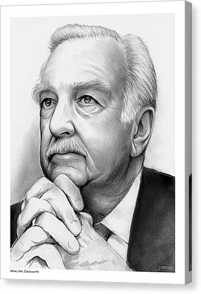 Walter Cronkite Canvas Print by Greg Joens