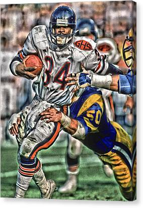 Walter Payton Canvas Print - Walter Payton Chicago Bears Art 4 by Joe Hamilton