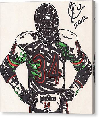 Walter Payton Canvas Print by Jeremiah Colley
