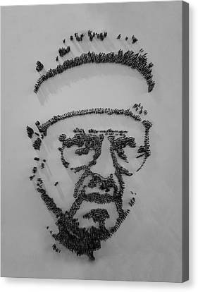 Walter Sobchak Nailed Black And White Canvas Print by Rob Hans